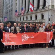 Delegación de inPerú en la Bolsa de Valores de Nueva York (Foto: Javier Parker)