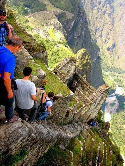 Escaleras del Santuario de Machu Picchu