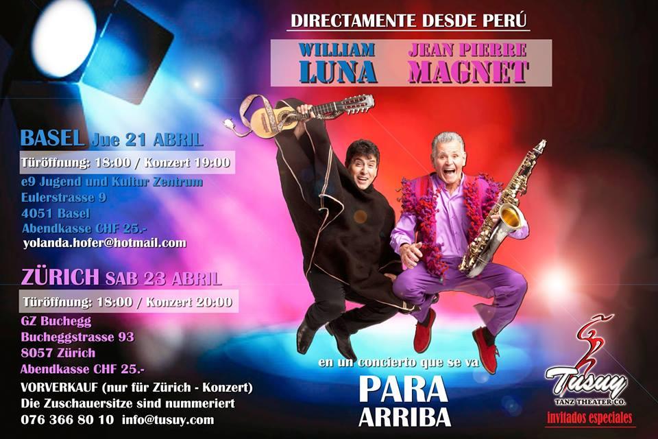 Jean Pierre Magnet y William Luna en concierto- Zurich