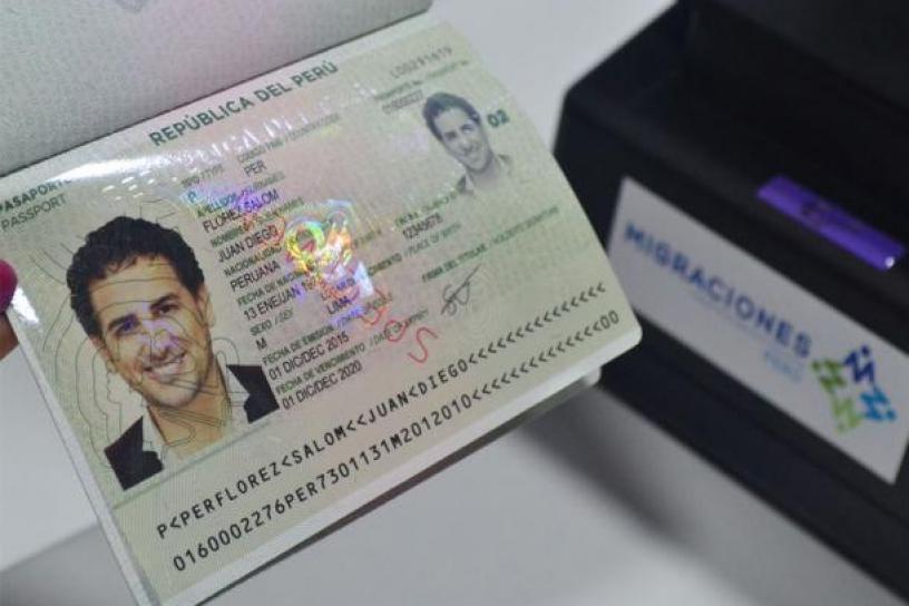 Pasaporte biométrico peruano